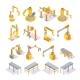 Conveyor Machines Isometric Set