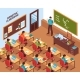 School Classroom Lesson Isometric Poster - GraphicRiver Item for Sale