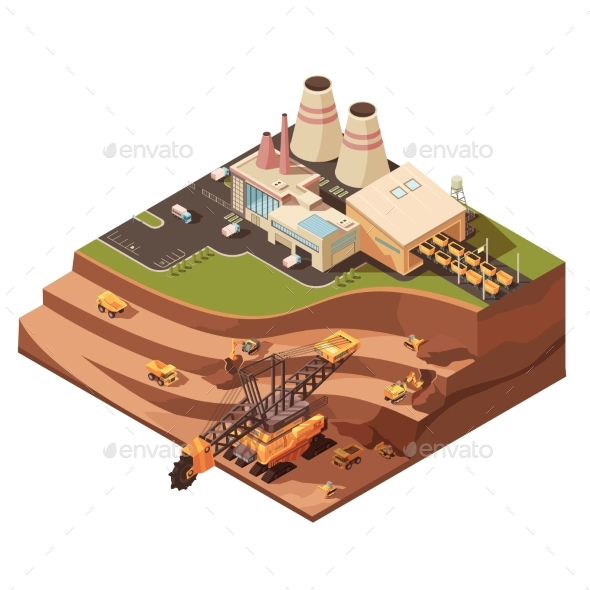 Open Pit Operations Composition - Miscellaneous Vectors