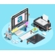 Graphic Designer Workspace Concept - GraphicRiver Item for Sale