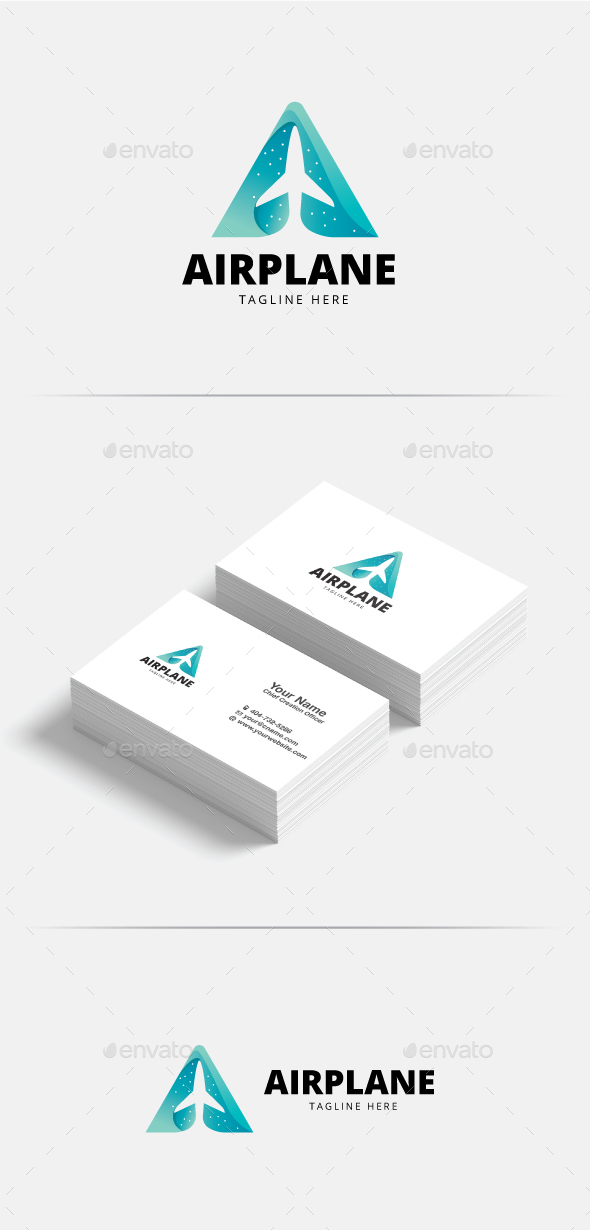 GraphicRiver Letter A Airplane Logo 20502408