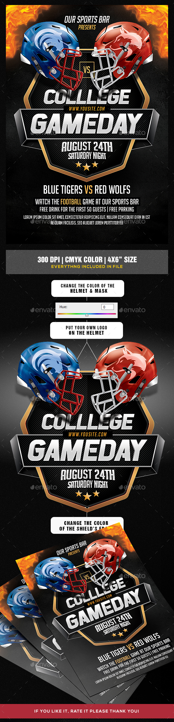 College Gameday Flyer Template - Sports Events