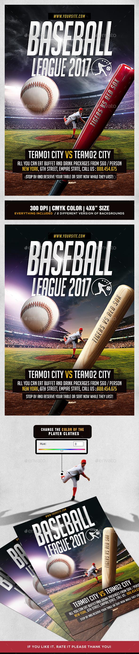 Baseball League Flyer - Sports Events
