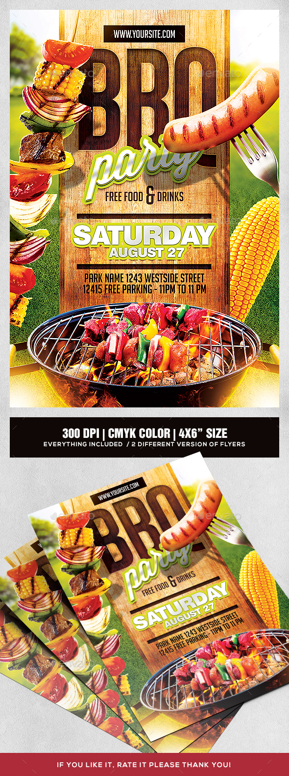 Barbeque Party Flyer Template - Sports Events