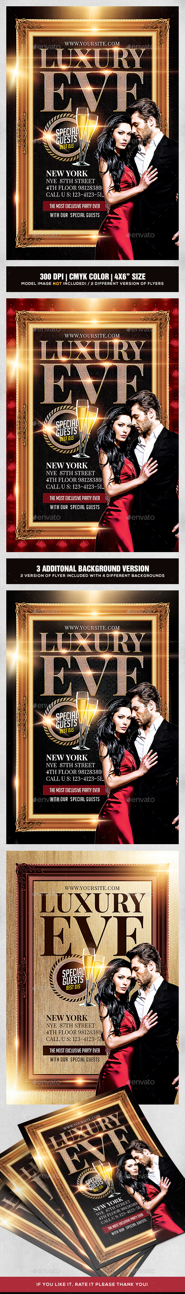 Luxury Eve Party Flyer Template - Clubs & Parties Events