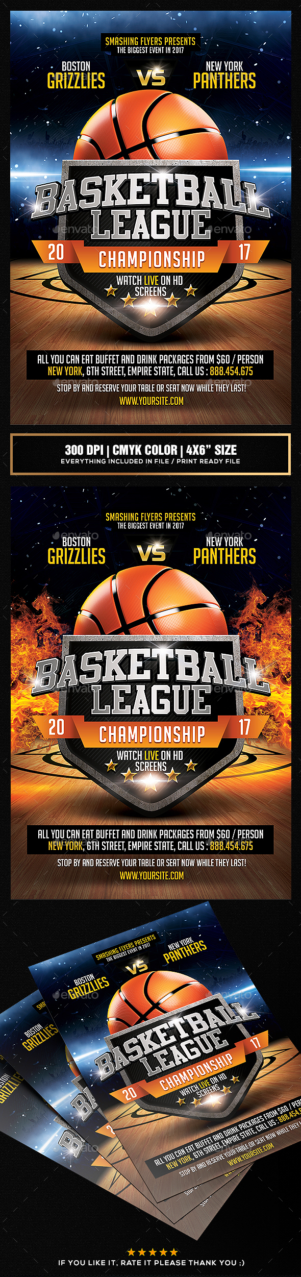 Basketball League Flyer Template - Sports Events