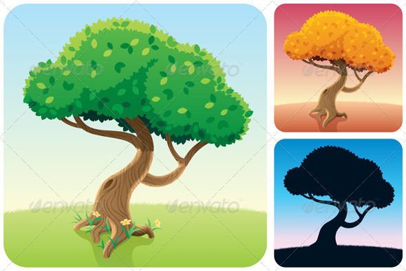 Tree Square Landscapes - Landscapes Nature