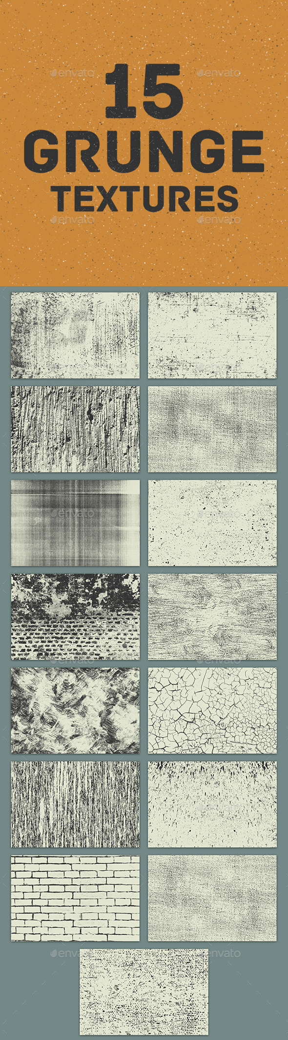 15 Grunge Textures - Miscellaneous Textures