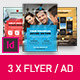 Corporate Business Universal Flyer/ad 3x Template Square White Indesign - GraphicRiver Item for Sale