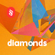 Diamonds - Low Poly Refraction Backgrounds - GraphicRiver Item for Sale
