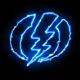 Blue Electric Symbol