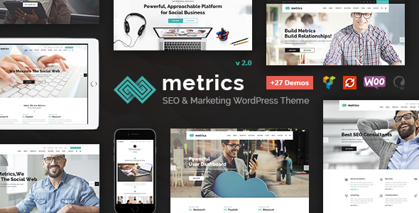 Metrics Business - SEO, Digital Marketing, Social Media Theme