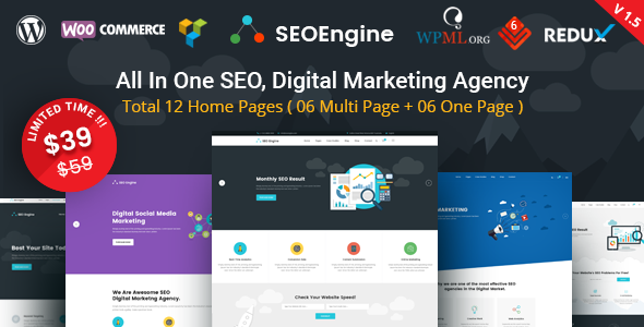 SEO Engine - SEO & Digital Marketing Agency WordPress Theme