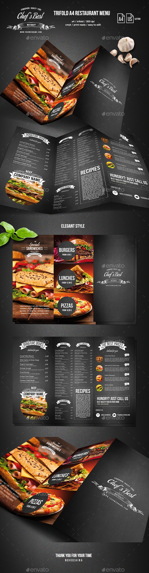 GraphicRiver Chef's Trifold Menu 20502753