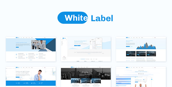 White Label - Clean Theme for Modern Web Businesses