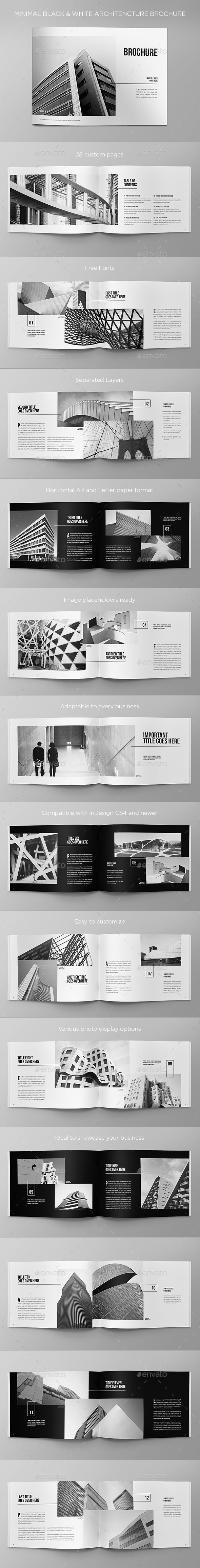 GraphicRiver Minimal Black & White Architecture Brochure 20502840