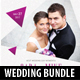 4 in 1 Wedding CD Cover Templates Bundle V2