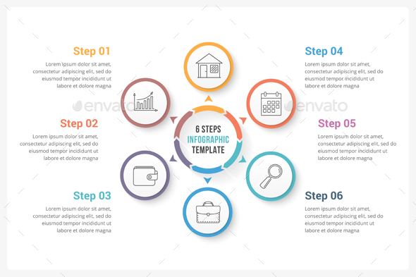 GraphicRiver Circle Infographic Template with Six Elements 20503029