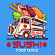Food Truck Japanese Sushi Sashimi Delivery Service Vector Logo - GraphicRiver Item for Sale
