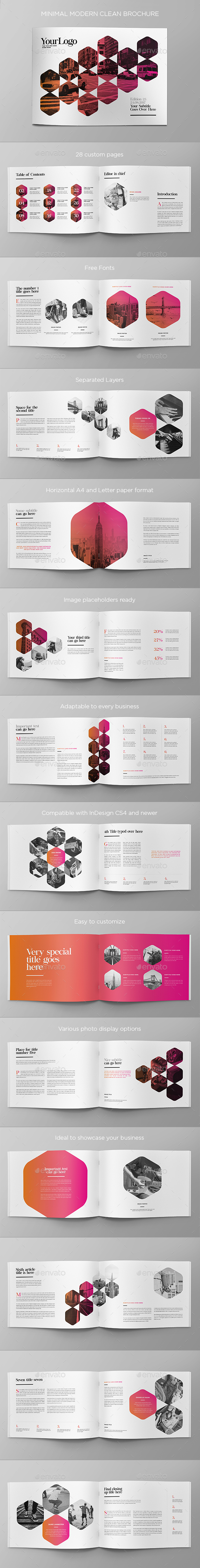 GraphicRiver Minimal Modern Clean Brochure 20503148