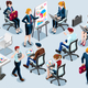 Isometric People Business Train Icon 3D Set Vector Illustration - GraphicRiver Item for Sale
