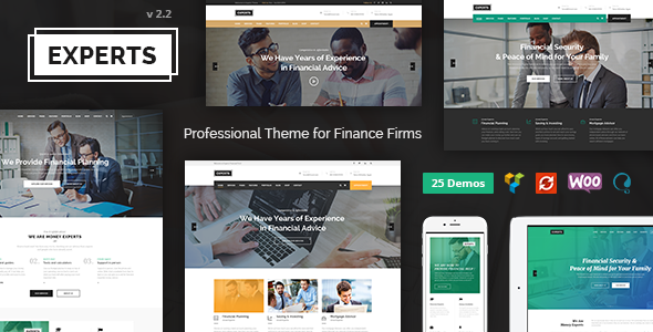 Finance Experts - Finance Business & Consulting WordPress Theme - Business Corporate