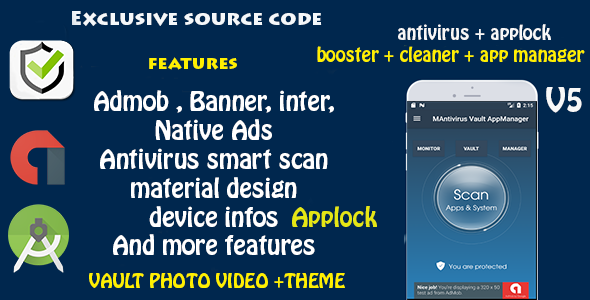 Antivirus + Applock + Booster + Cleaner + AppManager  + Vault Photo Video + Theme (Android)
