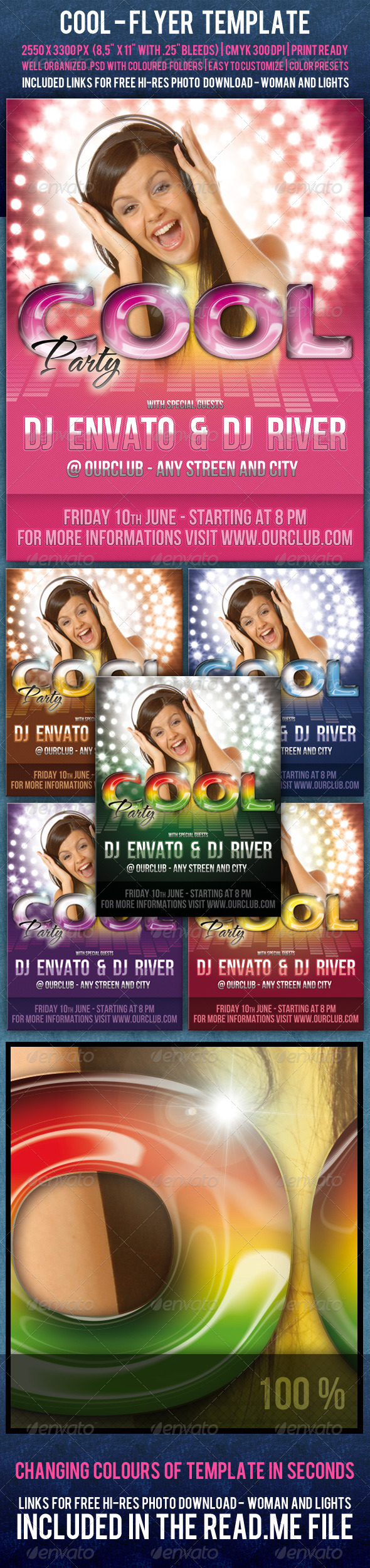 Cool Flyer Template - Clubs & Parties Events