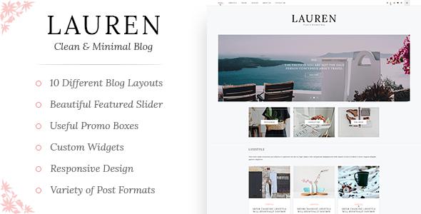 Download Lauren - Clean & Minimal WordPress Blog Theme