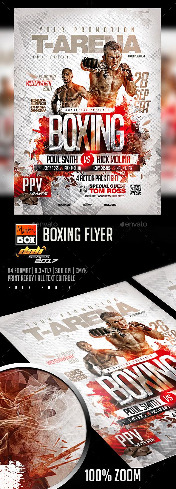 Boxing Flyer - Flyers Print Templates