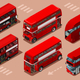 London Red Bus 3D Vector Isometric