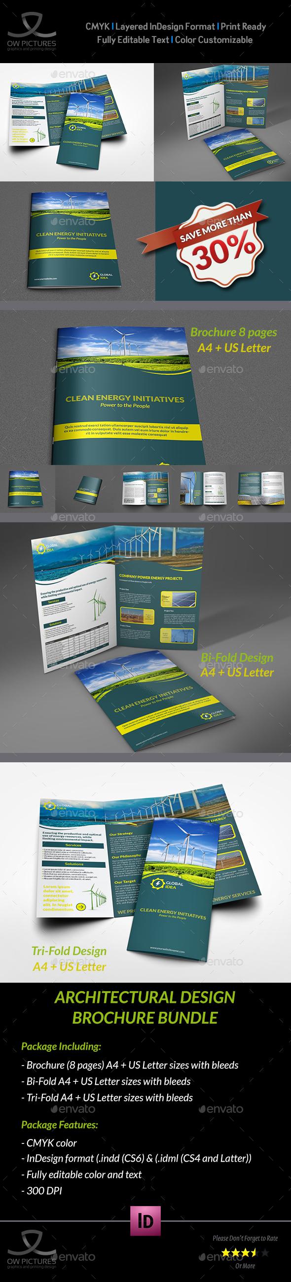 Power Energy Services Brochure Bundle - Brochures Print Templates