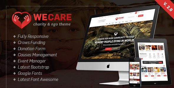 Image of We Care - Charity WordPress Theme