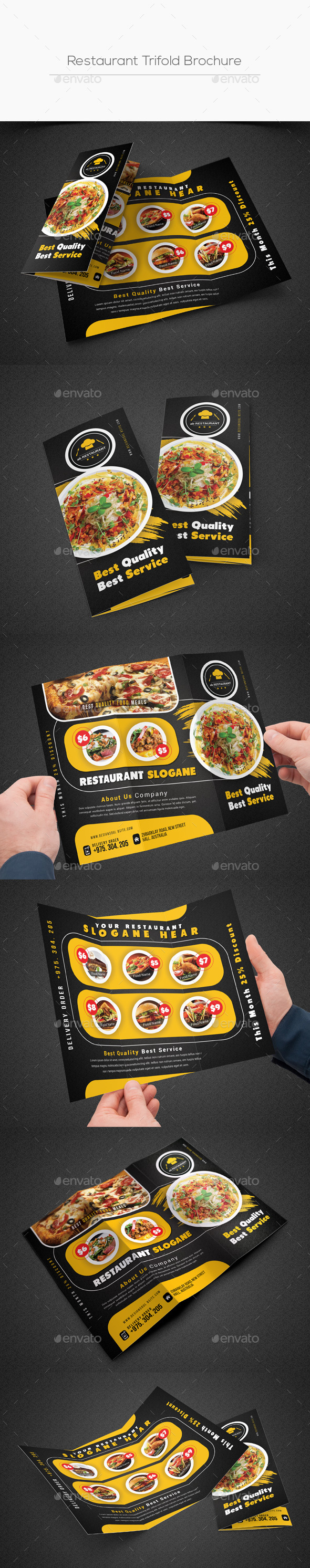 Restaurant Trifold Brochure - Corporate Brochures