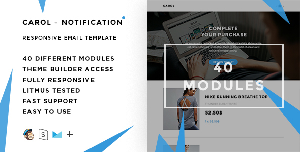 Carol Notification – 40+ versions - Responsive Email + StampReady Builder & Mailchimp Editor