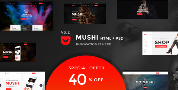 Mushi | Multipurpose HTML Template