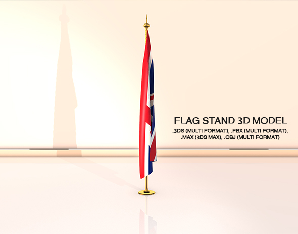 3DOcean Flag Stand 20504550