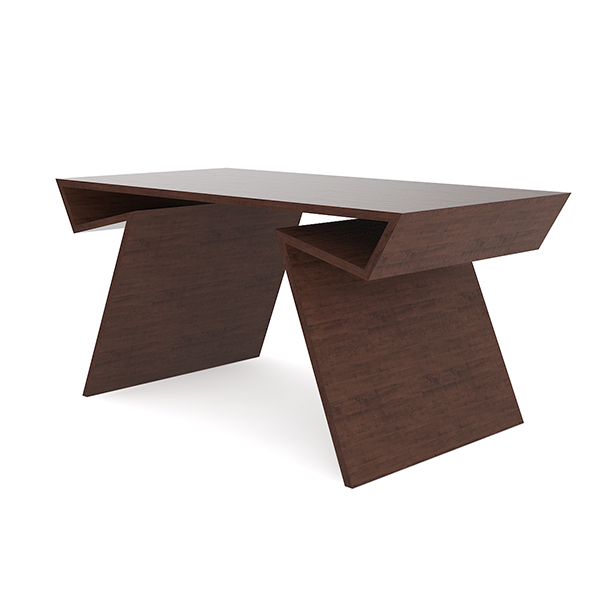 Modern Wooden Desk - 3DOcean Item for Sale