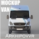 Van Mockup by Arkhipovvr - GraphicRiver Item for Sale