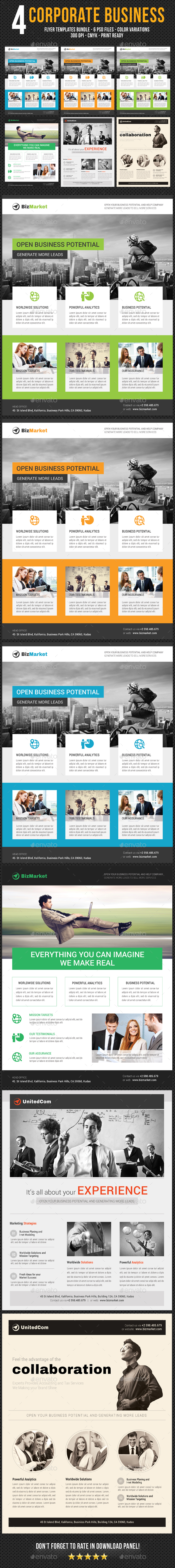 GraphicRiver 4 Corporate Business Flyer Templates Bundle V4 20504971
