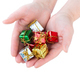 Woman holds many beautiful little Christmas gifts on white backg - PhotoDune Item for Sale