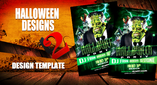 Halloween Flyers, Posters & Event Tickets