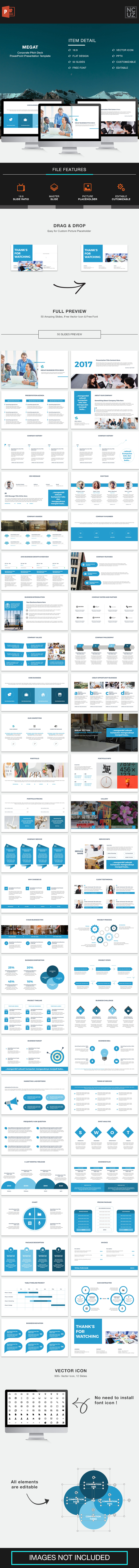 Megat Corporate Pitch Deck PowerPoint Template - Pitch Deck PowerPoint Templates