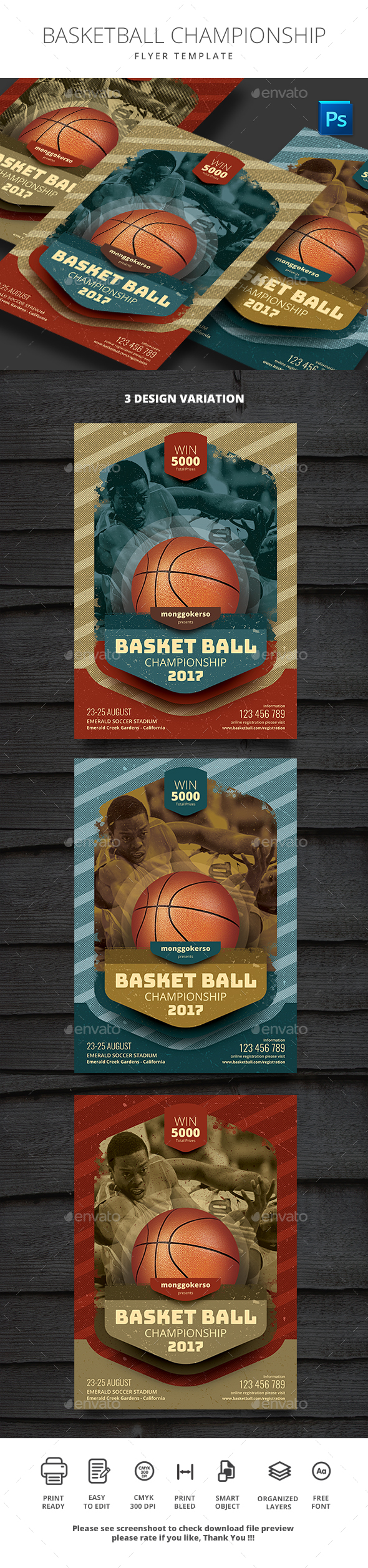 GraphicRiver Basketball Championship 20496438