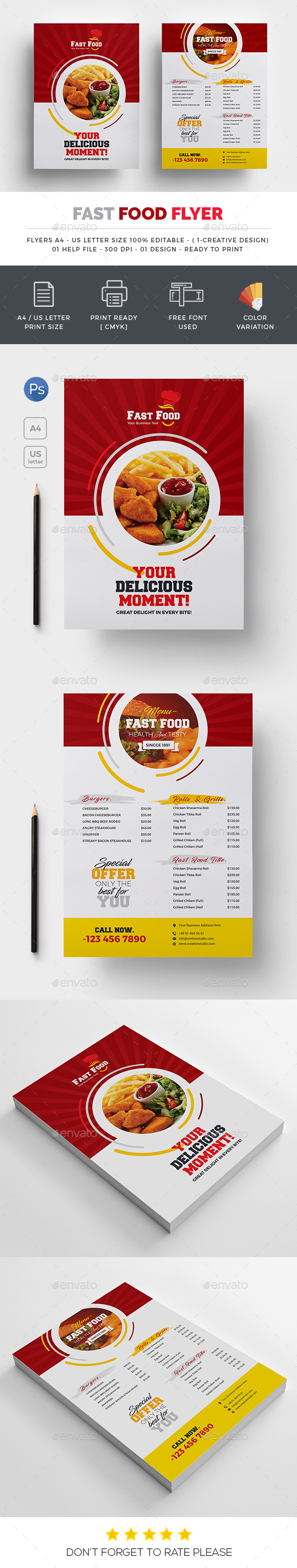 Fast food Both Side Flyer - Restaurant Flyers