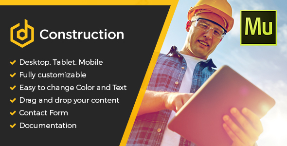 ThemeForest dConstruction Muse Template 20505584