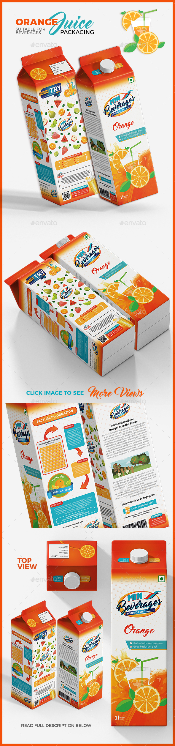 Orange Juice Packaging - Packaging Print Templates