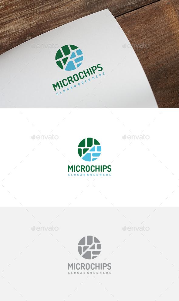 Microchip Electronic Logo - Abstract Logo Templates