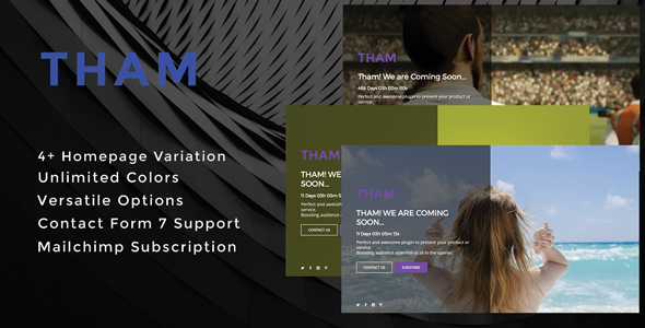 Tham - Ultimate Coming Soon & Maintenance Plugin - CodeCanyon Item for Sale