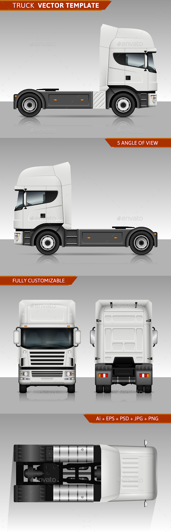 GraphicRiver Truck Vector Template 20505896